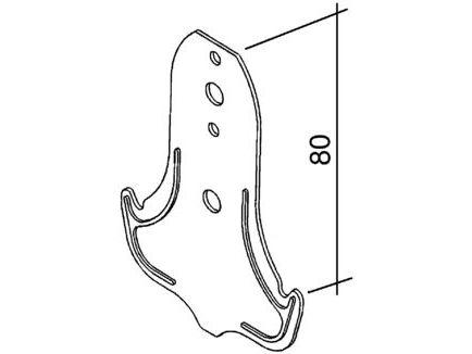 Ankerhänger 80 für CD-Profil 60/27